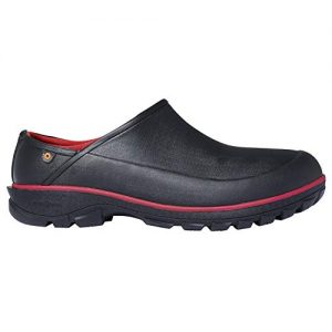 BOGS Men's Sauvie Clog Waterproof Rain Shoe, Black, 11