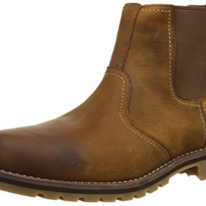 Timberland Mens Larchmont Chelsea Brown Leather Boots