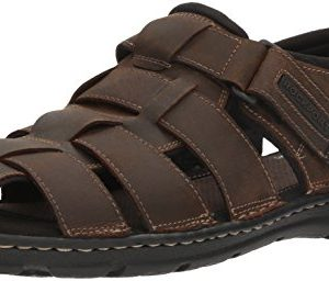 Rockport Men's Darwyn Fishermen Sandal, Brown Ii Leather
