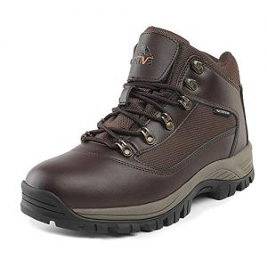 NORTIV 8 Men's Waterproof Snow Hiking Boots Mid Outdoor Backpacking
