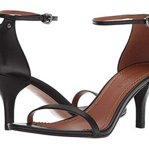 Coach Women's Heeled Sandal Black Leather