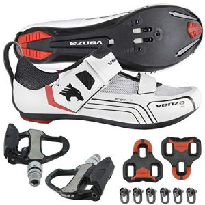 Venzo Cycling Bicycle Bike Triathlon Shoes with Pedals Compatible