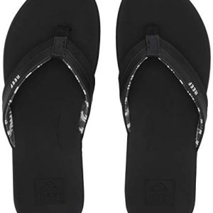 REEF Women's Ortho-Bounce Coast Sandals, Black