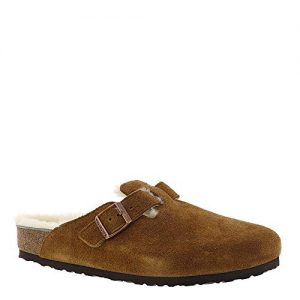 Birkenstock Unisex Boston Shearling Clog, Mink/Natural