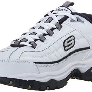 Skechers Men's Energy Afterburn Lace-Up Sneaker,White/Navy