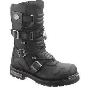 Harley-Davidson Men's Axel 10-Inch Black Motorcycle Boots