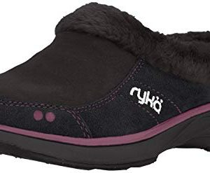 Ryka Women's Luxury Mule, Black/Berry
