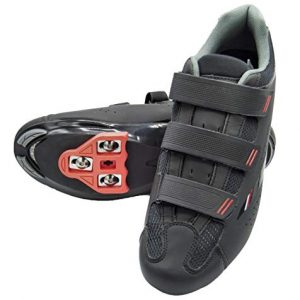 tommaso Strada 100 Dual Cleat Compatible Spin Class Ready Bike Shoe - Look Delta - 46 Black