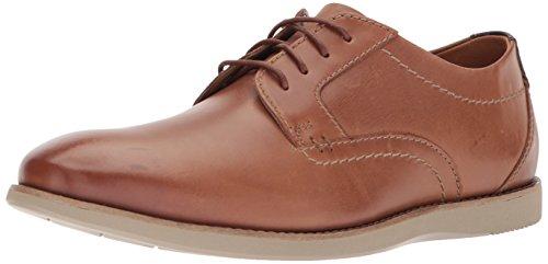 Clarks Men's Raharto Plain Shoe, dark tan leather
