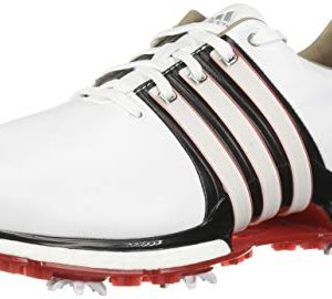 Adidas Men's TOUR360 XT Golf Shoe FTWR White/core Black/Scarlet 10 M US