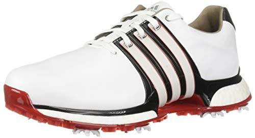 Adidas Men's TOUR360 XT Golf Shoe FTWR White/core Black/Scarlet 10 M US