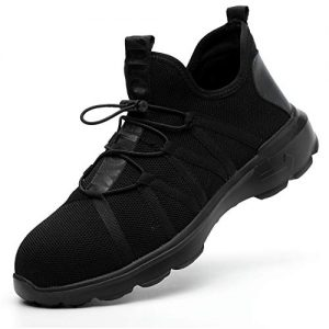SUADEX Steel Toe Shoes Men, Breathable Lightweight Industrial and Constructions