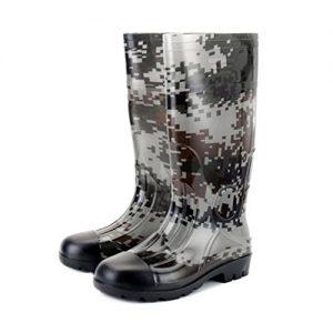 Kontai Man Knee High Rubber Rainboots Camo Waterproof Rubber Boots