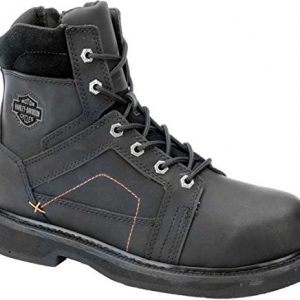 Harley-Davidson Men's Pete Steel Toe Motorcycle Safety Boot, Black