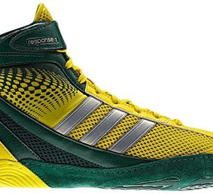 Adidas Wrestling Men's Response 3.1-M, Forest/Vivid Yellow/Metalic Silver 11.5 M US