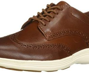 Cole Haan Men's Grand Tour Wing Oxford Woodbury/Ivory Flat