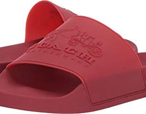 Coach Men's 3D Logo Slide Red