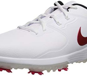 NIKE Men's Vapor Pro Golf Shoe, white/university Red - Black