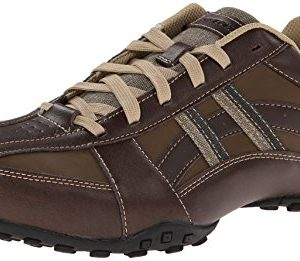 Skechers USA Men's Citywalk Malton Oxford Sneaker,Brown,13 M US