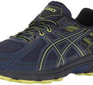ASICS Mens Gel-Venture 6 Running Shoe, Indigo Blue/Black/Energy Green