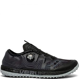 Saucony Men's Switchback ISO Trail Running Shoe, Black/Grey
