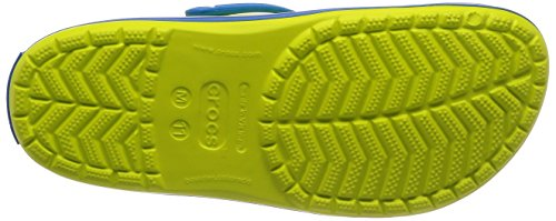 Crocs Unisex Crocband Clog, tennis ball green/ocean SPORTY, STYLISH AND COMFORTABLE: The Crocs Crocband Clogs characteristic dependable cushioned consolation, a sporty design, and a wide range of energy-boosting colours and graphic designs, making them the Crocs men and women want; Show your stripes LIGHTWEIGHT: These Crocs for women and men are extremely light-weight, water-friendly and buoyant; The Croslite foam provides an Iconic Crocs Comfort that's excellent for enjoyable at dwelling or hanging out at a sports activities recreation VENTILATION AND DURABILITY: These revolutionary Crocs clogs for men and women supply a sturdy construct with superior air flow and breathability; The design helps drain water and particles when kickin' round in moist situations MAKE THEM YOUR OWN: These ladies's and males's Crocs supply a roomy and beneficiant match that's certain to match your foot; The Crocs clogs might be custom-made with Jibbitz charms to mirror your individual private aptitude CROCS FOR WOMEN AND MEN: The sporty Crocband Crocs are enjoyable to put on inside and outside; The choices are infinite whenever you broaden your wardrobe with these snug clogs Crocs Unisex Crocband Clog, tennis ball green/ocean, 11 US Men / 13 US Women.