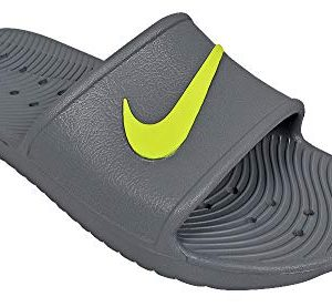 Nike- Kawa Shower Slides Cool Gray/Volt