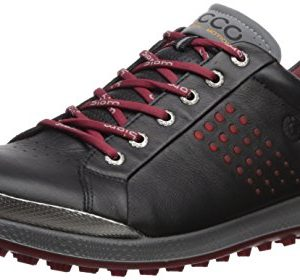 ECCO Men's Biom Hybrid 2 Hydromax Golf Shoe, Black/Brick