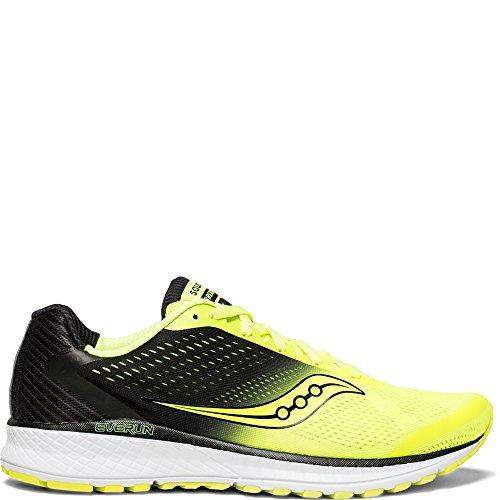Saucony Men's Breakthru 4 Running Shoe, Citron/Black