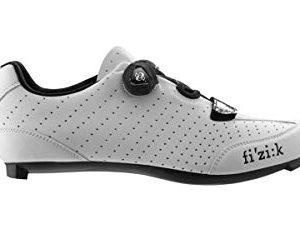 Fizik R3 UOMO BOA Road Cycling Shoes, White/Black, Size 46 White/Black