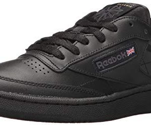 Reebok Men's Club C 85 Walking Shoe, Black/Charcoal, 10 M US
