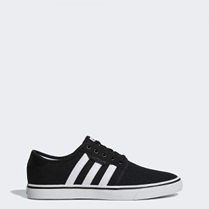 adidas Originals Men's Seeley Running Shoe, Black/White/Gum