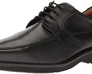 ECCO Men's Seattle Apron Toe Tie Oxford, Black/Black