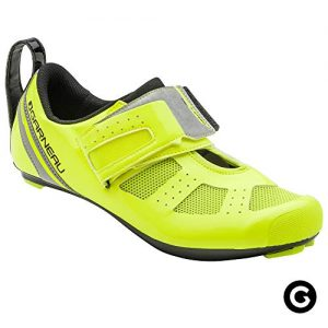 Louis Garneau Men's Tri X-Speed III Triathlon Cycling Shoes for Racing and Indoor Biking, Compatible with Major Road and SPD Pedals, Bright Yellow, US (10), EU (44)