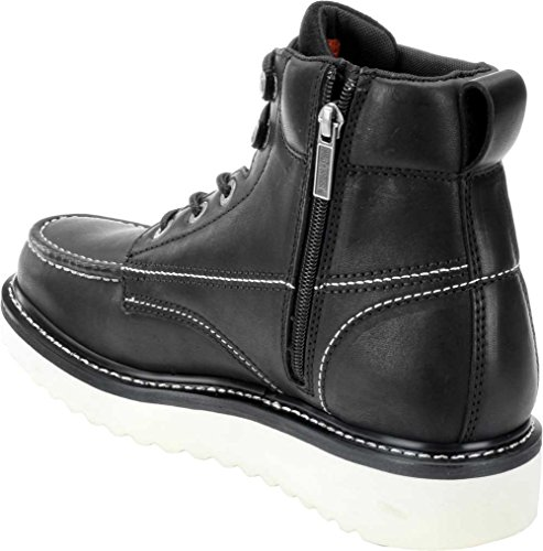 Harley-Davidson Men's Beau Wedge Motorcycle Boot Harley-Davidson Men's Beau Wedge Motorcycle Boot, Black, 10 M US.