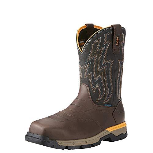 Ariat Work Men's Rebar Western H2O Composite Toe Work Boot, Chocolate Brown, 10 D US