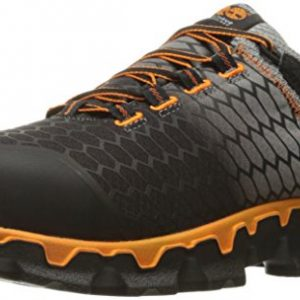 Timberland PRO Men's Powertrain Sport Alloy Toe SD+ Industrial & Construction Shoe, Grey Synthetic/Orange, 10 M US