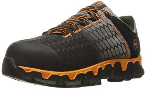 Timberland PRO Men's Powertrain Sport Alloy Toe SD+ Industrial & Construction Shoe, Grey Synthetic/Orange, 10 M US