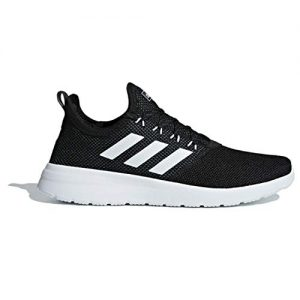 adidas Men's Lite Racer Reborn Running Shoe, Black/White/Grey