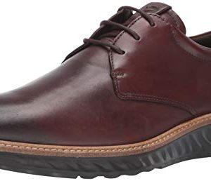 ECCO Men's ST1 Hybrid Plain Toe Oxford, Cognac Smooth