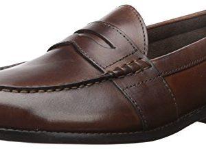 Nunn Bush Men Noah Penny Loafer Dress Casual Slip On Shoe, Brown, 12