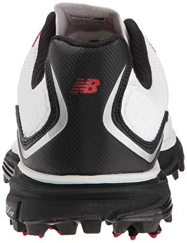New Balance Men's NB Tour Waterproof Spiked Comfort Golf Shoe New Balance Men's NB Tour Waterproof Spiked Comfort Golf Shoe, White/Black, 8 D D US.