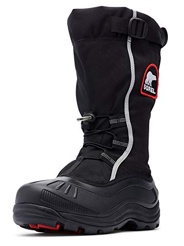 Sorel Men's Alpha Pac Extreme Snow Boot,Black/Red Quartz