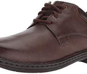 Clarks Men's Gadson Plain Oxford, Dark Brown Leather