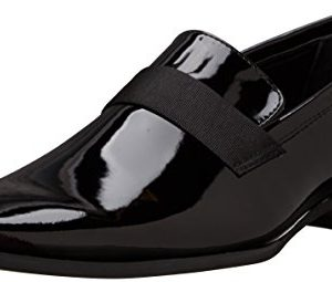 Calvin Klein Men's Bernard Loafer, Black Patent