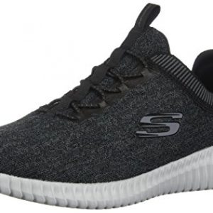Skechers Elite Flex - Hartnell Black/Grey Mens Sneakers