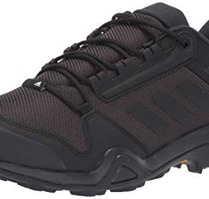 adidas outdoor Men's Terrex AX3 Hiking Boot, Black/Black/Carbon, 7.5 M US
