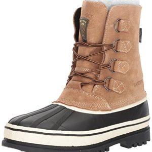 Skechers USA Men's Revine Hopkin Snow Boot,Black/Khaki