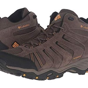 Columbia Men's North Plains II Waterproof MID Hiking Boot, Mud, Squash, 10 D US