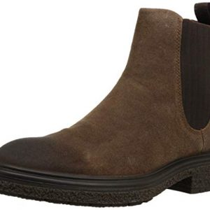 ECCO Men's CrepeTray Chelsea Boot, Cocoa Brown Suede